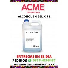 ALCOHOL EN GEL X 5 L
