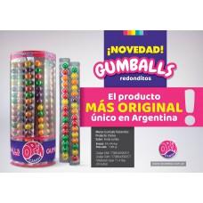 CHICLE GUMBALL REDONDITO EN TIRAS X 24 U