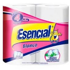 PAPEL HIGIENICO ESENCIAL BLANCO 4 X 30 M