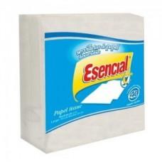 SERVILLETA DE PAPEL ESENCIAL BLANCA X 40