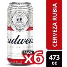 CERVEZA BUDWEISER  6 X 473 CM