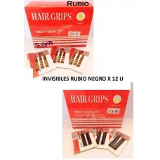 CLIPS INVISIBLE RUBIO HAIR GRIPS 6 X 12