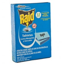TABLETA RAID X 12 U MOSQUITOS